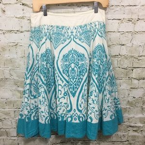 Edme & Esyllte Turquoise Floral Skirt H38